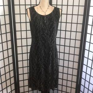 A Black Sleeveless Dress